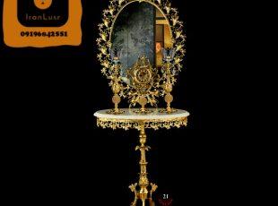 آینه و شمعدان آلومینیومی کد 21