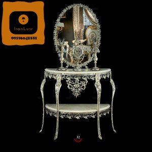 آینه و شمعدان آلومینیومی کد 32