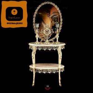 آینه و شمعدان آلومینیومی کد 33