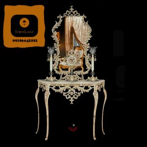 آینه و شمعدان آلومینیومی کد 9