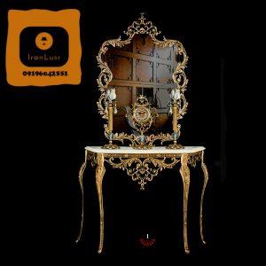 آینه و شمعدان آلومینیومی کد 1