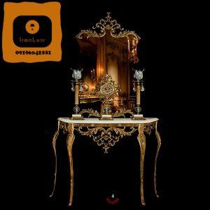 آینه و شمعدان آلومینیومی کد 4