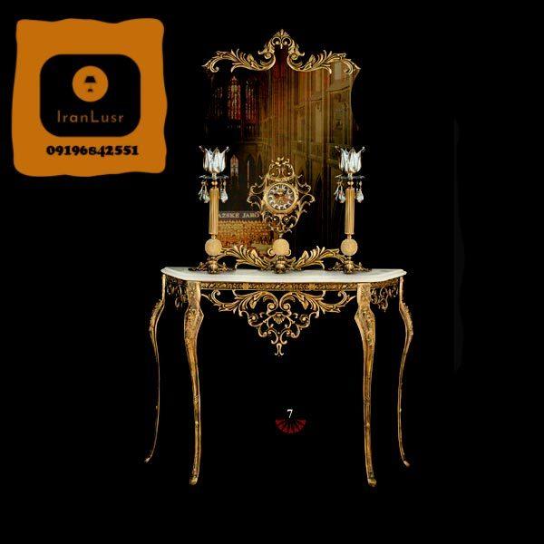 آینه و شمعدان آلومینیومی کد 7
