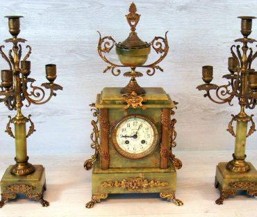 شمعدان و ساعت آلومینیومی