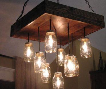 لوستر چوبی مدرن