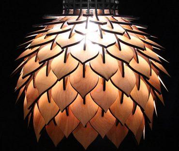 لوستر چوبی طرح دار