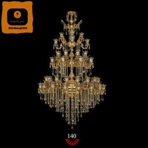 لوستر دوگل بزرگ طبقاتی آلومینیومی کد ۱۴۰