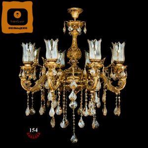 لوستر امپراطور تک شعله ۴ شاخه آلومینیومی کد ۱۵۴