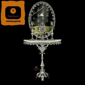 آینه و شمعدان آلومینیومی کد 47