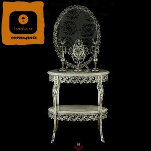 آینه و شمعدان آلومینیومی کد 51