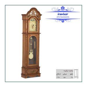 ساعت ایستاده چوبی ارکیده