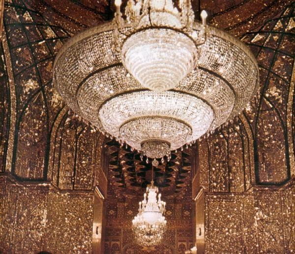 لوستر برنجی مسجدی