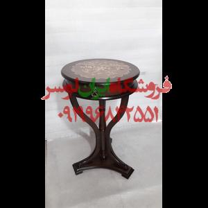 میز چوبی تک پایه مدل ژان دارک