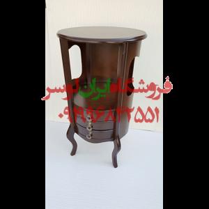 میز گرد چوبی مدل ایتالیایی