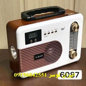 رادیو اسپیکر بلوتوث دار فلش و رم خور همراه و شارژی کد 6087BT
