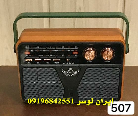 رادیو بلوتوث دار فلش و رم خور همراه و شارژی کد 507