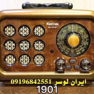 رادیو بلوتوث دار فلش و رم خور همراه و شارژی کد 1901BT