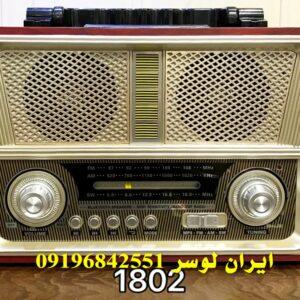 رادیو بلوتوث دار فلش و رم خور همراه و شارژی کد 1802BT
