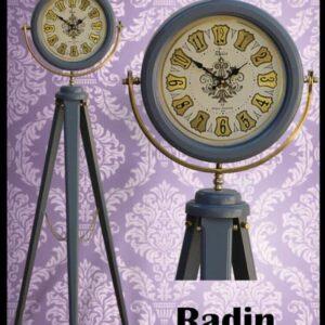 ساعت ایستاده کنارسالنی چوبی مدل رادین کد 303