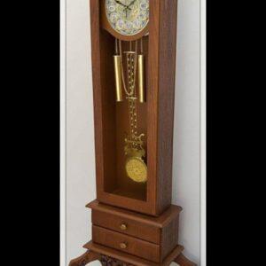 ساعت ایستاده کنارسالنی چوبی مدل رادین کد 252