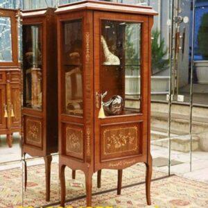 بوفه و ویترین چوبی معرق تک درب مدل چهارگوش لاوا برند ایران لوسر