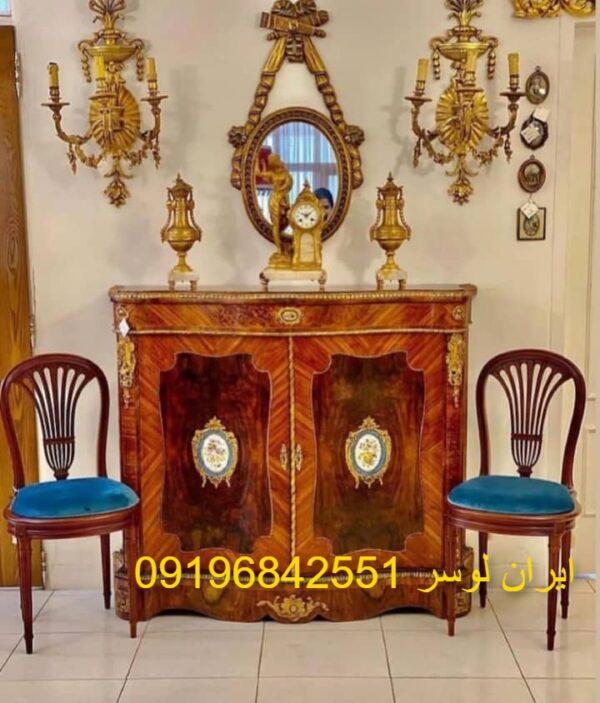 آینه و کنسول چوبی فرانسوی سلطنتی